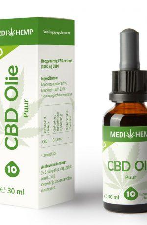 Medihemp CBD Oil UK Pure 10% (30ml)