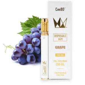 West Coast Grape Cure CureBD Disposable Vape UK