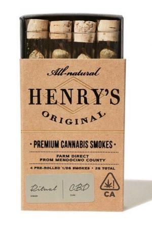 Henry's Original Ritual 10 1 Pre-Roll UK Pack