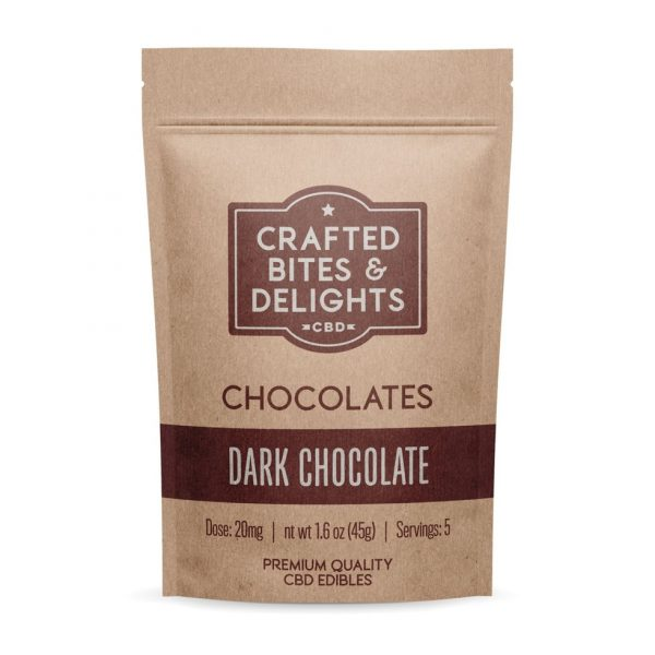 100mg Bag of Dark Chocolate UK - Crafted Bites & Delights
