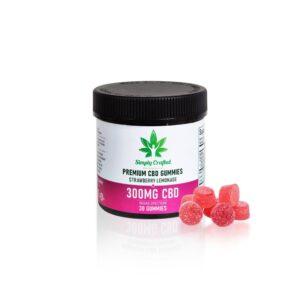 Buy 300mg CBD Gummies - Strawberry Lemonade UK