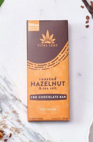 CBD Chocolate Bar UK Roasted Hazelnut & Sea Salt 100mg CBD