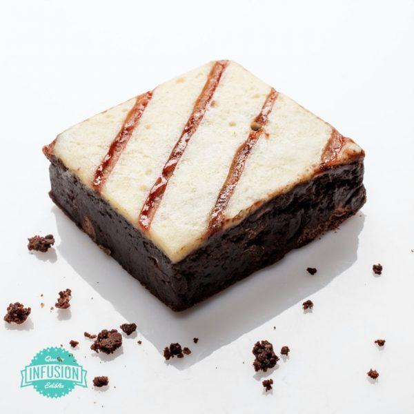 Raspberry Cheesecake Brownie - 100mg edible UK