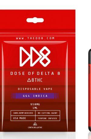 DD8 Delta 8 THC Disposable Vape - UK GG4 950mg
